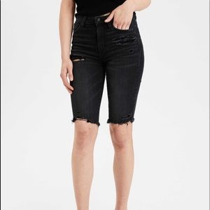 American Eagle super high waisted jeans shorts